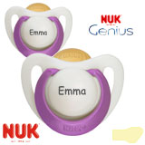 NUK Genius, orthodontisch, latex, maat 1